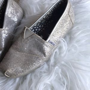 Toms sparkly shoes